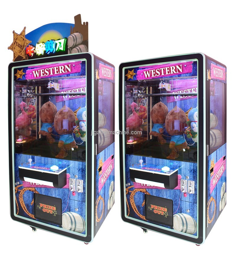2018 new arrival CE approval coin operated arcade scissors cut rope toy vending machine