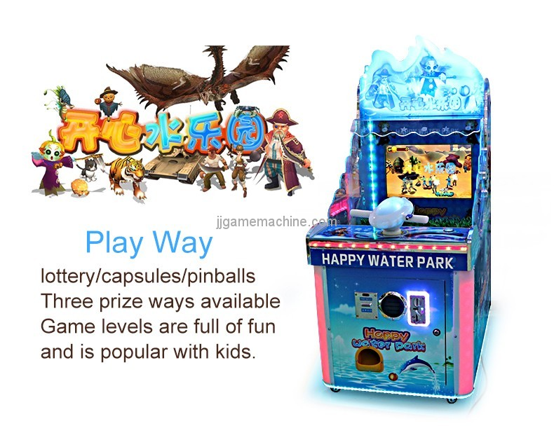 New arrival arcade game machine one pieces MOQ single player water shooting game machine for kids