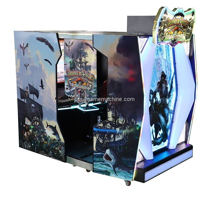 Colorful outward laser target shooting simulator arcade games machines