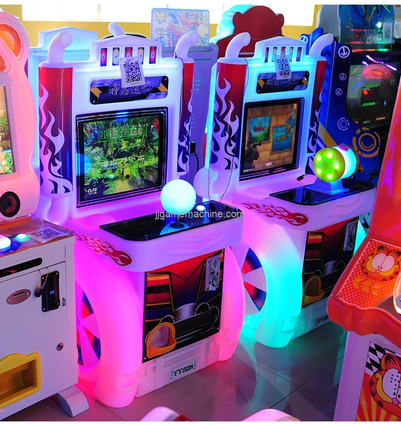 Kids entertainment arcade game machine gun shooting/fishing/racing optional kids coin operated game machine