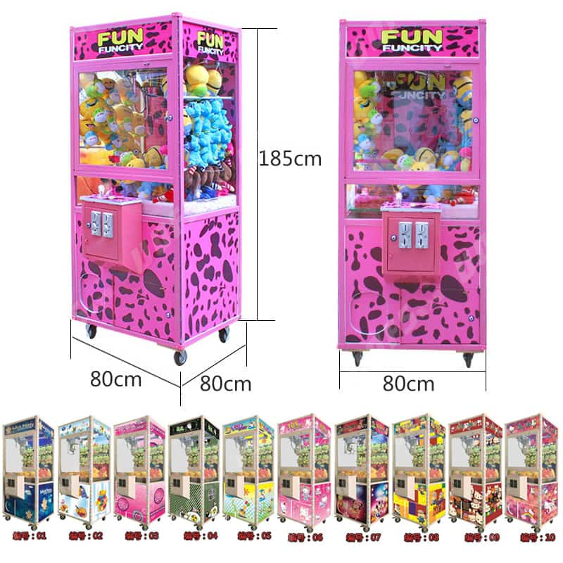 coin operated aluminium alloy crane claw machine