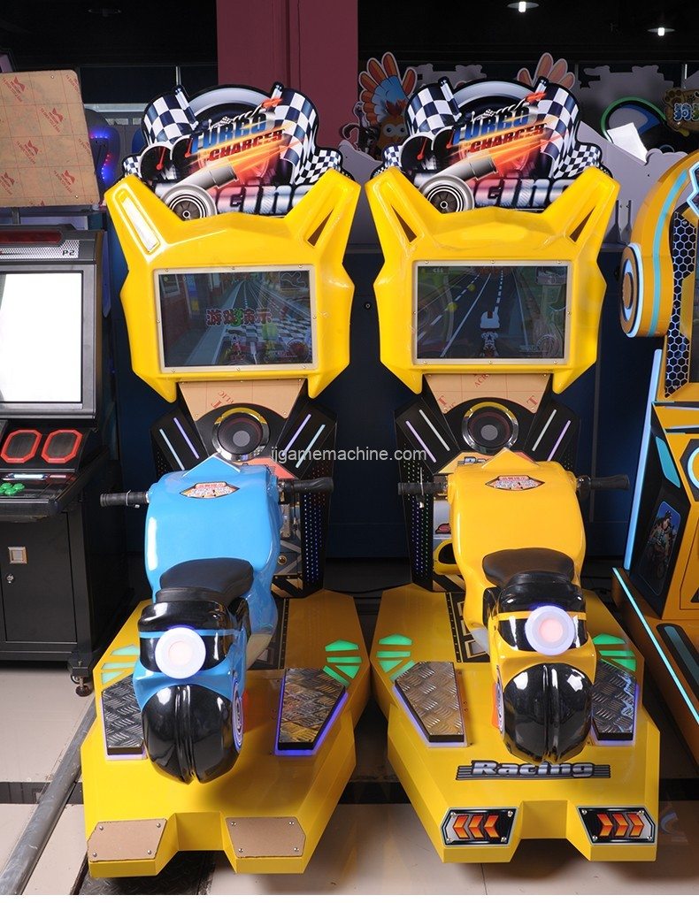play car racing games for kids to drive style crazy motor co-operated kids racing bikes