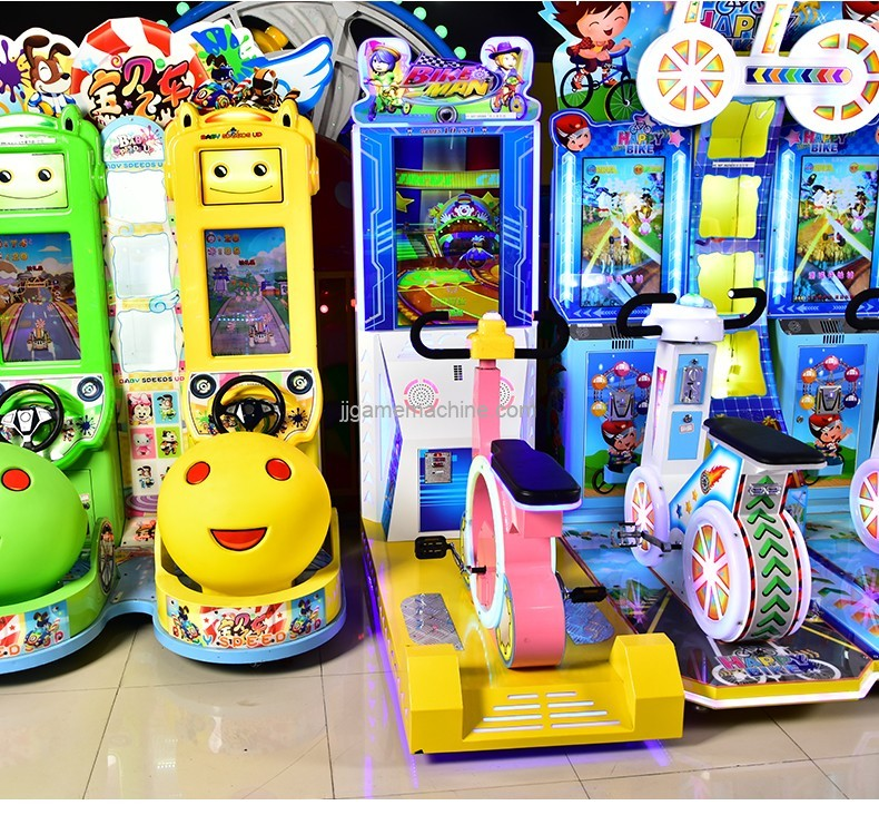 Hot sale style single bike racing generation co-operated kiddie rides