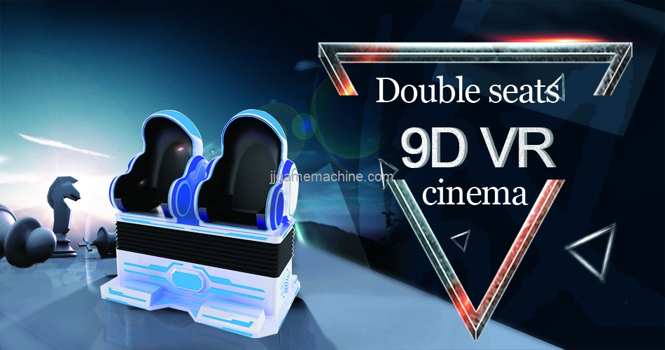 Most Exciting Factory price 9D VR 360 Game Virtual VR Cinema 2 Seats