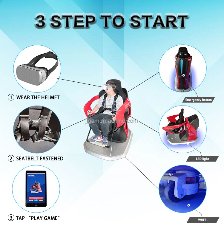 Virtual Reality games 360 rotation chair VR flight simulator game machine