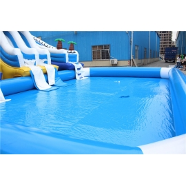 inflatable bear water slide with pool combo