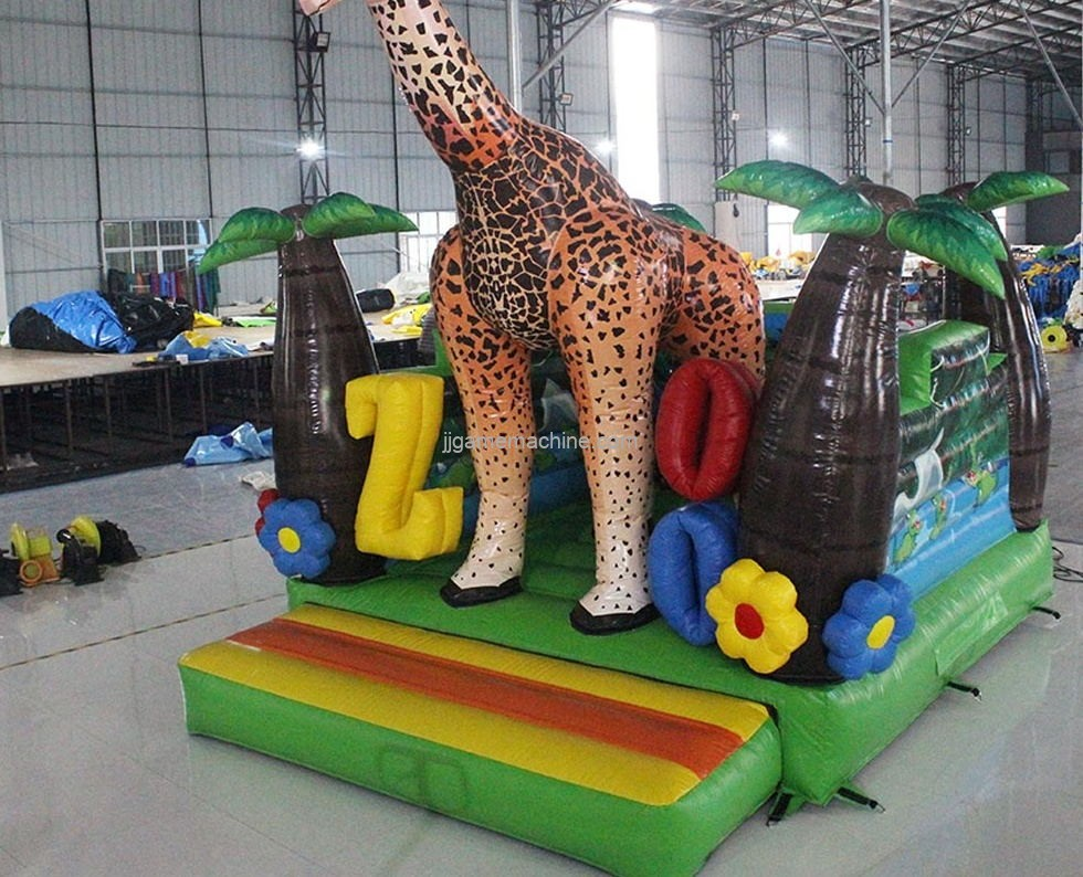 Giraffe Inflatable Jumping Bouncer Castle