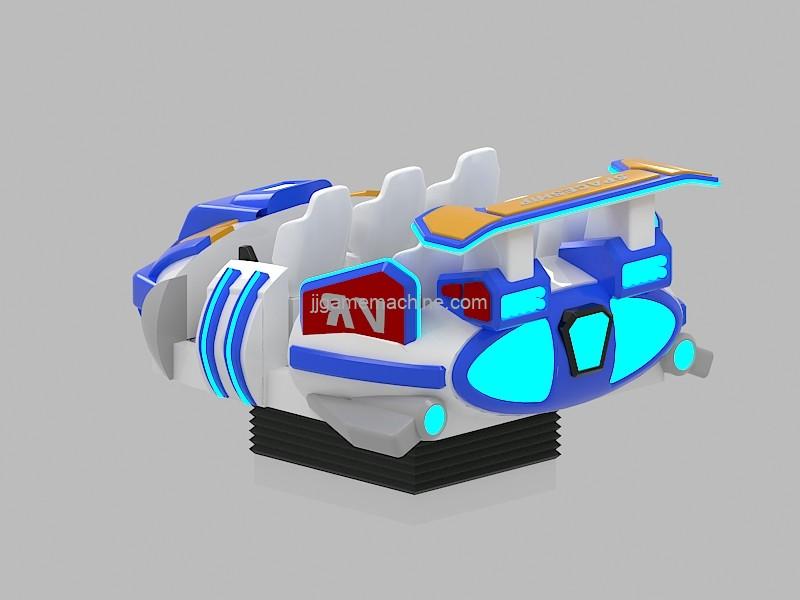 VR equipment 9D vr cinema 6 seats flight simulator blue and white VR spaceship