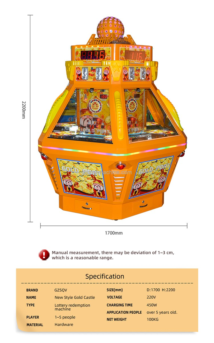 2019 cheap and durable high quality gold castle coin redemption arcade games coin pusher