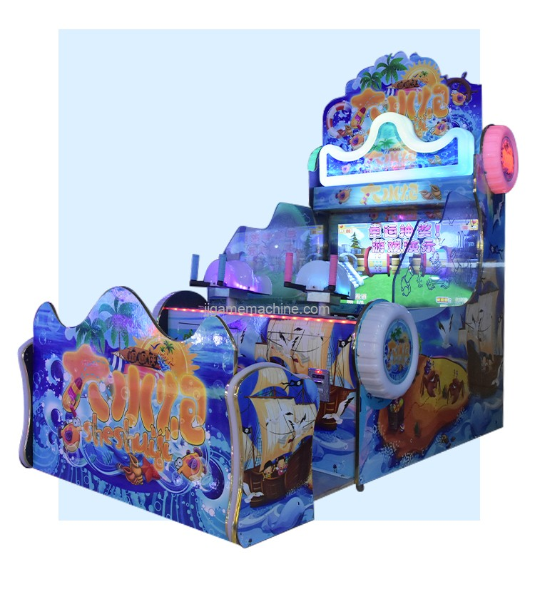 New 2 Players Coin Operated Water Shooting Arcade Lottery Game Machine