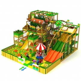 jungle style commercial children customized indoor soft playground