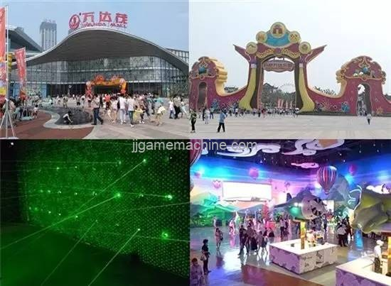 High-tech children's experience center children's theme park commercial real estate traffic entrance