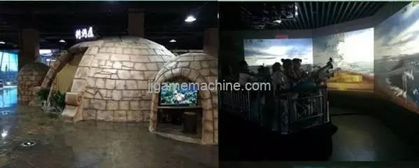 High-tech children's experience center children's theme park commercial real estate traffic entrance