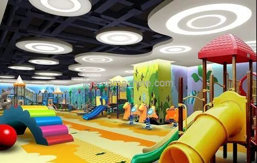 Dont step on these pits in the design of the indoor childrens playground