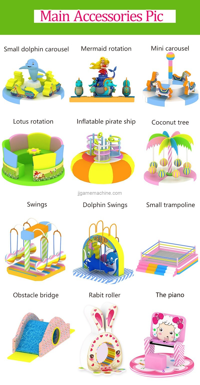 3~12 years old Kids games indoor playground slide trampoline kids soft play equipment