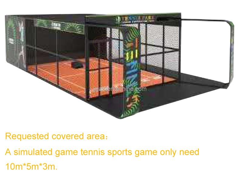 simulated tennis sport machine size