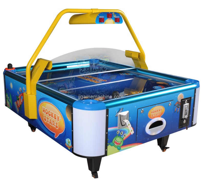 Coin operated game machine kids air hockey game