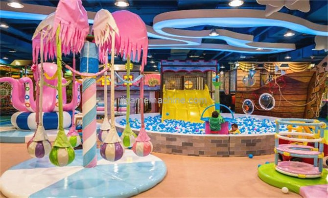 What are the equipment projects of children's paradise naughty Fort